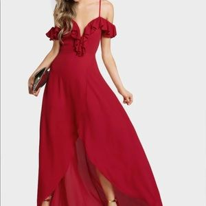 Gorgeous Red High Lo Dress